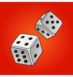 Dice game pop art style vector image