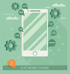Flat phone vector