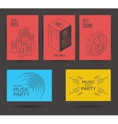Set of music posters vector image