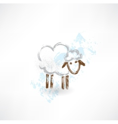sheep grunge icon vector image