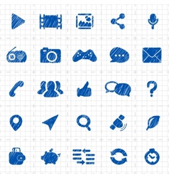 Social media icons for website vector image vector image