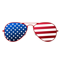 American glasses icon happy 4 th july and vector
