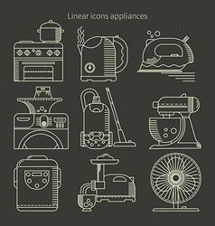 Appliances black background vector image