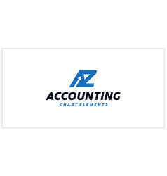 Az accounting financial logo vector