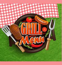 BBQ Grill menu vector