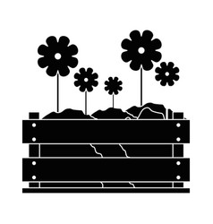 Beautiful flowers gardening vector