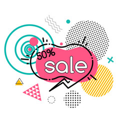 Big sale with discount geometric promotion poster vector