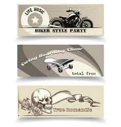 biker banners vector image