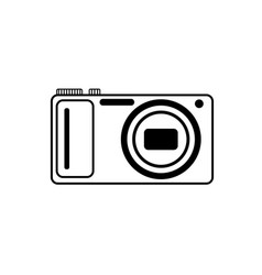 black and white logo of the digital camera vector image