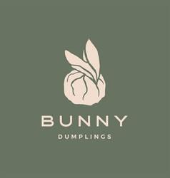 bunny dumplings logo icon vector image