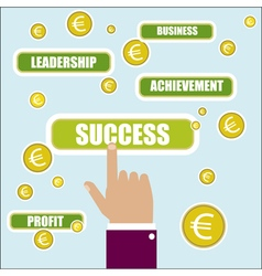 Business concept Success key word vector image