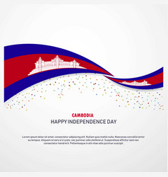 Cambodia happy independence day background vector
