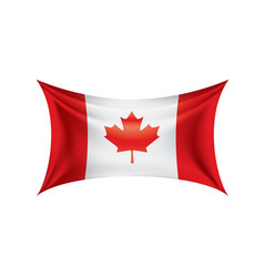 canada flag on a white vector image