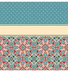 card with seamless floral wallpaper pattern vector image