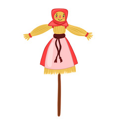carnival scarecrow isolated on a white background vector image