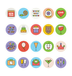 Celebration and Party Icons 1 vector image