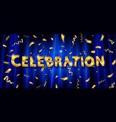 celebration invitation card vector image