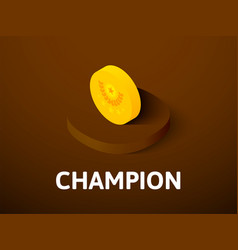 champion isometric icon isolated on color vector image