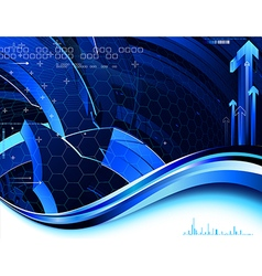 Complex tech background vector