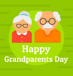 day of happy granparents background flat style vector image