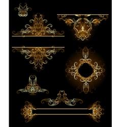 Design elements in gold vector