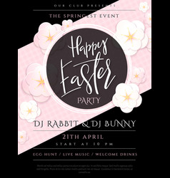 easter day invitation party vector image
