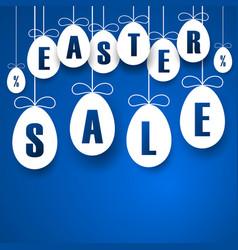 easter sale banner easter hanging eggs vector image