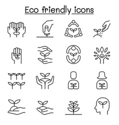 Eco friendly conservation saving nature ecology vector
