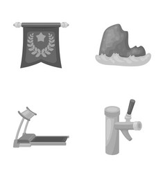 Education travel and other monochrome icon in vector