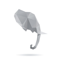 Elephant head abstract isolated vector image