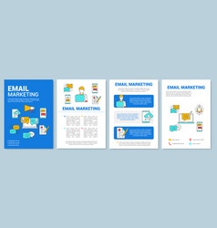 Email marketing brochure template layout digital vector