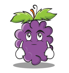 Eye roll grape character cartoon collection vector