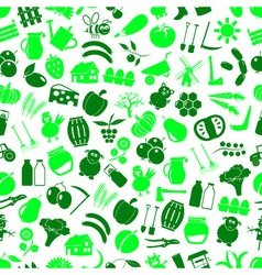 Farm and farming big simple color icons seamless vector