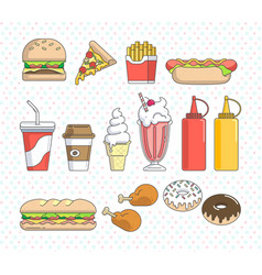 fast food graphics vector image