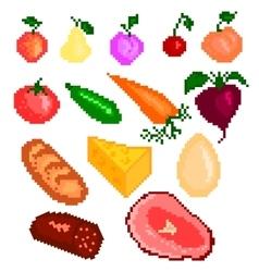 Food pixelart vector