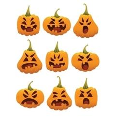 Funny Smiling Halloween Pumpkins vector