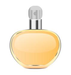 gold perfume mockup realistic style vector image