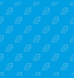 grape pattern seamless blue vector image