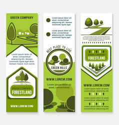 green eco landscape design company banners vector image