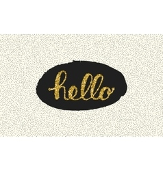 Hello lettering with dot on white background vector