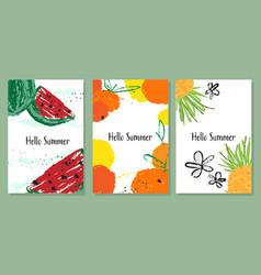 Hello summer banner collection vector