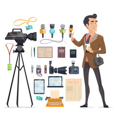 Journalism elements set vector