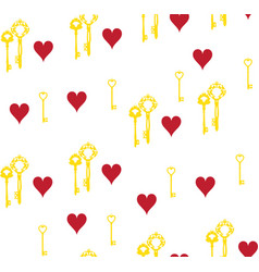 keys and hearts vector image