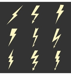 Lightning flat icons vector