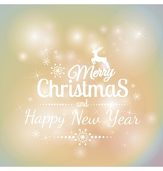 Merry Christmas And Happy New Year on colorful vector image