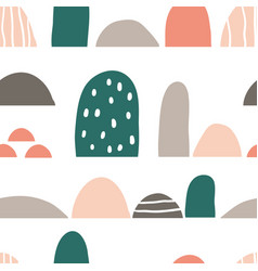 minimalistic seamless geometric semicircle pattern vector image