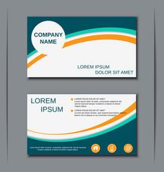 modern business visiting card design vector image