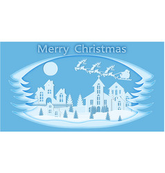 new year christmas stylized framework an image vector image