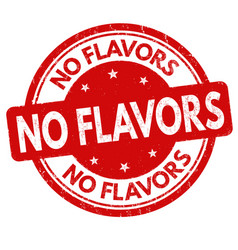 No flavors sign or stamp vector