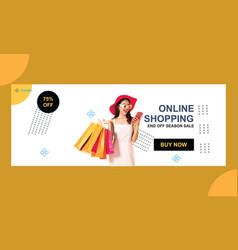 Online shopping super sale social media cover vector